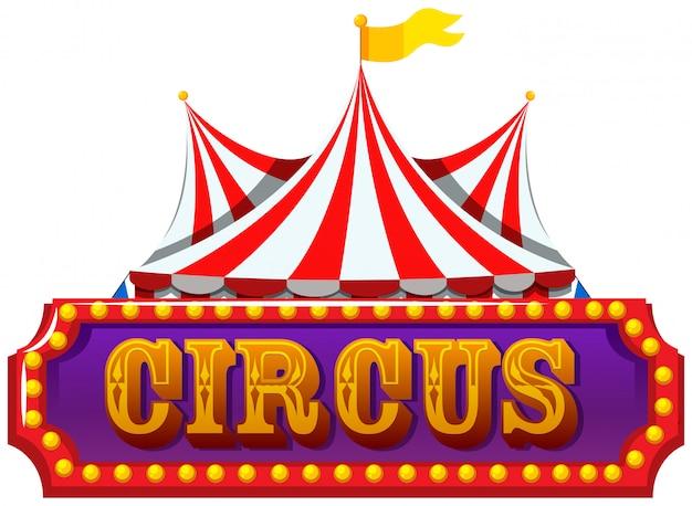 Um, isolado, circo, bandeira