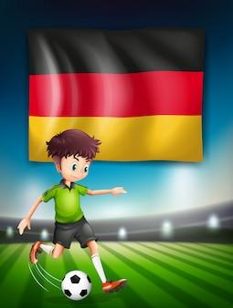 Um jogador de futebol alemão
