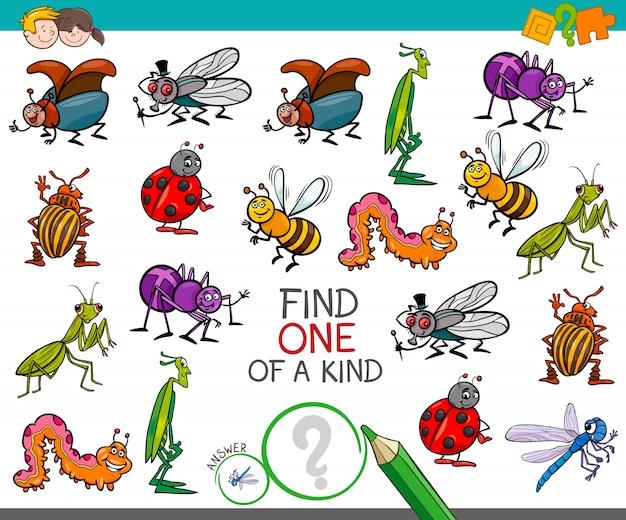 Um jogo amável com personagens de insetos