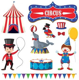 Um, jogo, de, circo, elemento