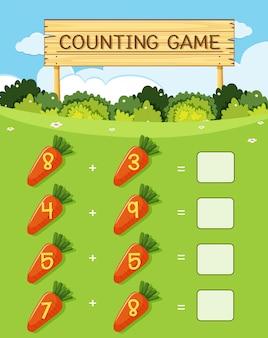 Um jogo de contagem de matemática