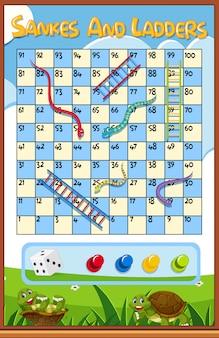 Um jogo de escada de cobra