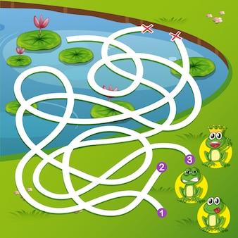 Um jogo de labirinto de rã