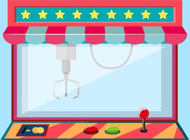 Um jogo de máquina de guindaste de garra