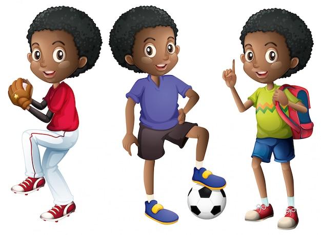 Um, jogo, de, menino africano