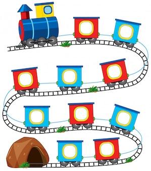 Um jogo de trem