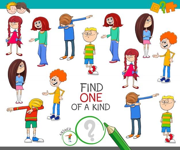 Um jogo de um tipo com crianças colorir livro