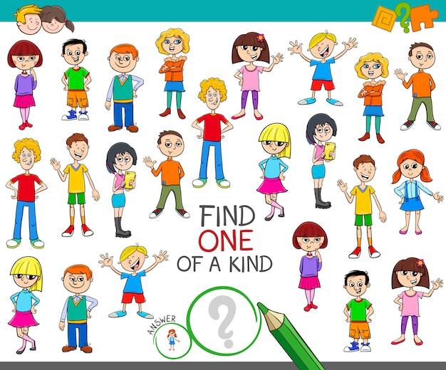 Um jogo de um tipo com livro de cor de crianças