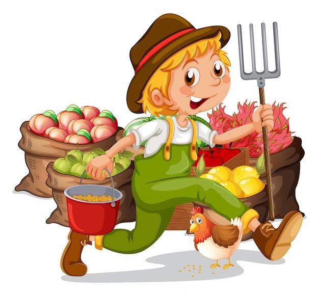 Um jovem jardineiro