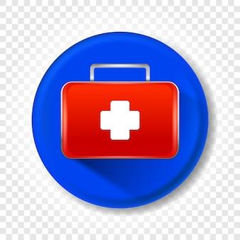 Um kit de primeiros socorros médico realista