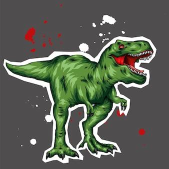 Um lindo dinossauro de vetor.
