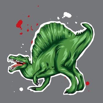Um lindo dinossauro.