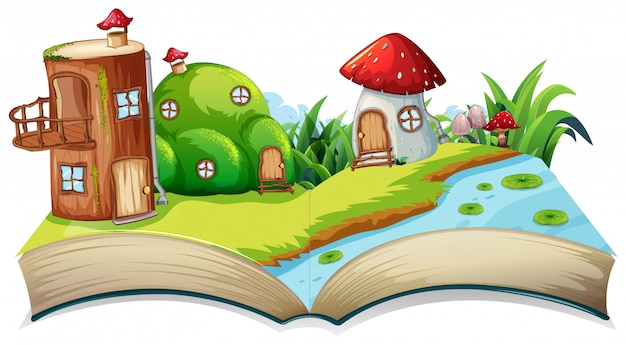 Um livro aberto do fairyland opn