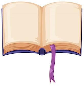 Um livro aberto em branco