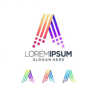 Um logotipo colorido