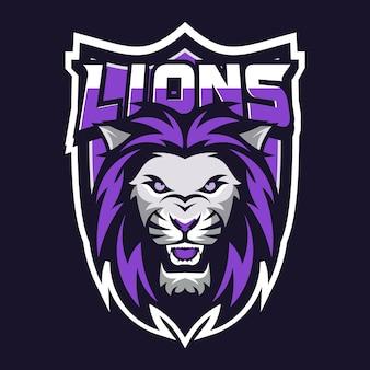 Um logotipo de cabeça de leão