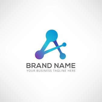 Um logotipo de carta. modelo inicial do logotipo 3d