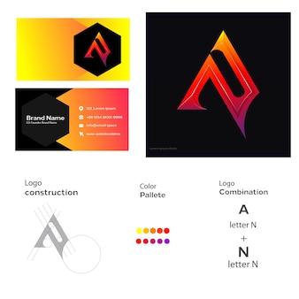 Um logotipo de carta