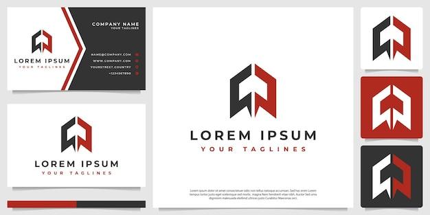 Um logotipo de foguete moderno e minimalista