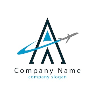Um logotipo de viagem
