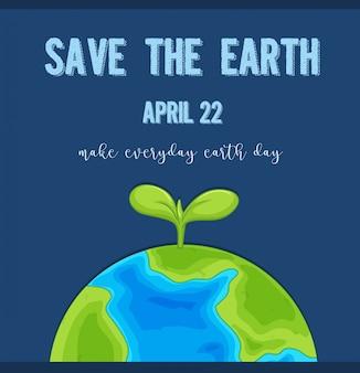 Um logotipo do dia da terra
