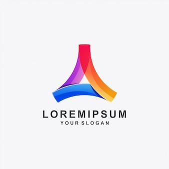 Um logotipo moderno colorido