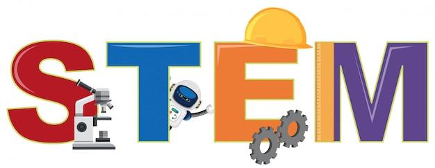 Um logotipo stem e elemento