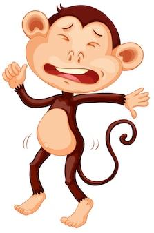 Um macaco chorando
