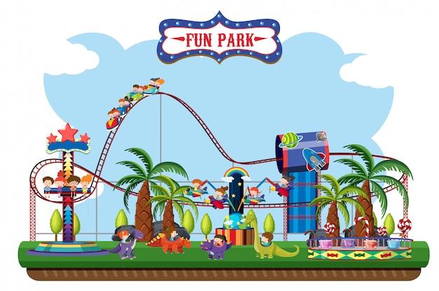 Um, mapa, de, divertimento, parque