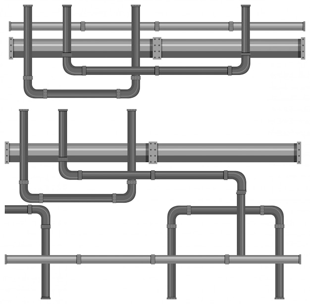 Um mapa de sistemas de tubulação de água