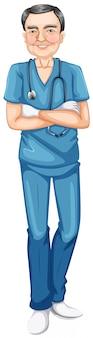 Um médico homem sorridente