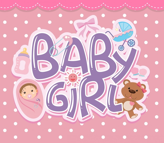 Um, menina bebê, logotipo