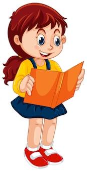 Um, menina, lendo um livro