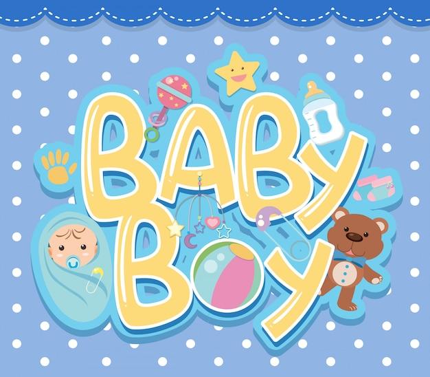 Um, menino bebê, logotipo