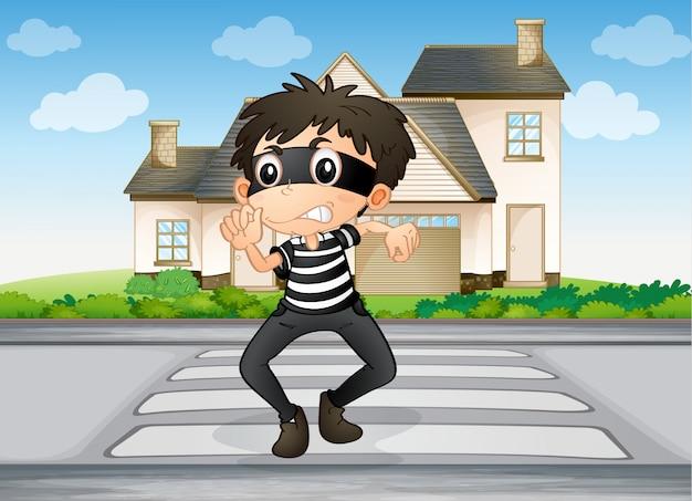 Um menino e uma casa