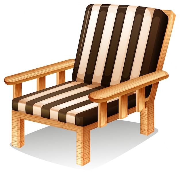 Um mobiliário de cadeira relaxante