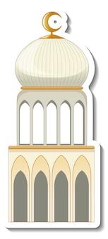 Um modelo de adesivo com a construção da mesquita isolada