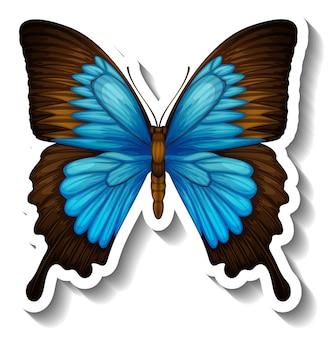 Um modelo de adesivo com borboleta ou mariposa isolada