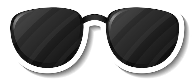Um modelo de adesivo com óculos de sol isolados
