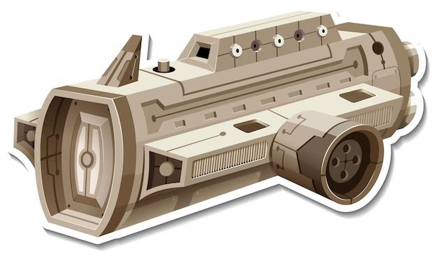 Um modelo de adesivo com ovni ou satélite isolado
