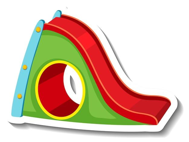 Um modelo de adesivo com um equipamento de playground de slides