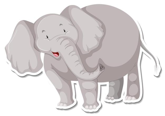 Um modelo de adesivo de personagem de desenho animado de elefante