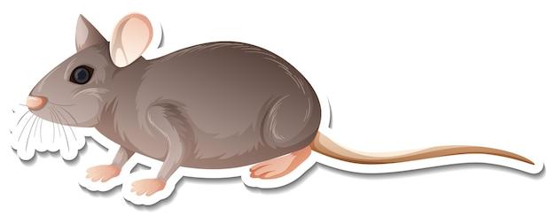 Um modelo de adesivo de um personagem de desenho animado de rato