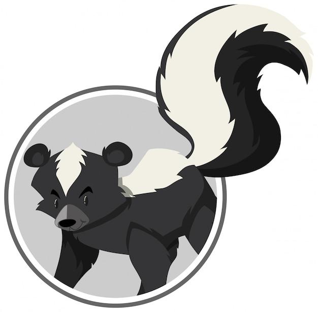 Um modelo de autocolantes de skunk