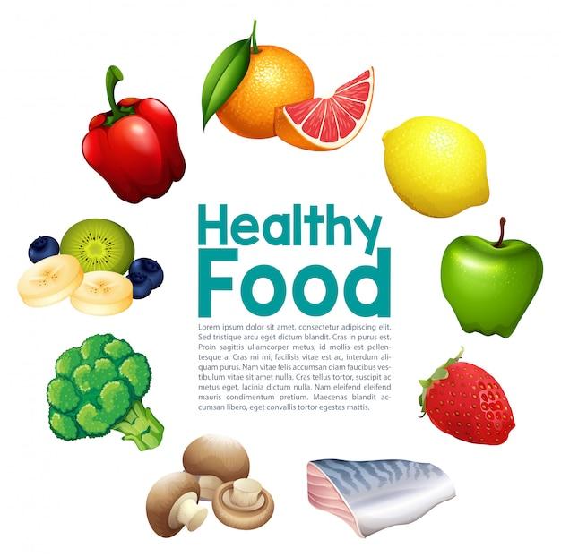 Um modelo de comida saudável