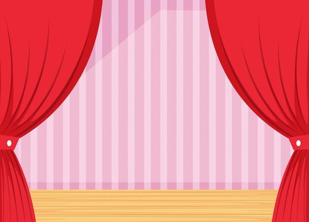 Um modelo de cortina de palco