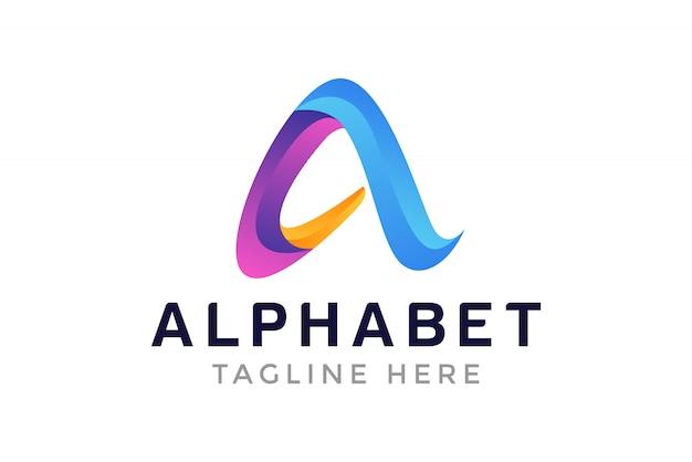 Um modelo de design de logotipo de carta inicial