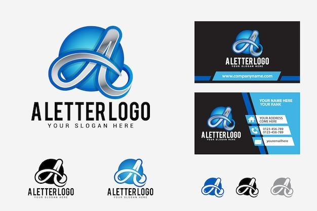 Um modelo de design de logotipo de carta