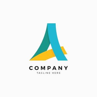 Um modelo de design de logotipo de cartas