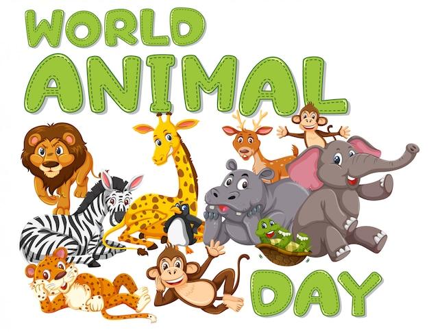 Um modelo de dia animal animal